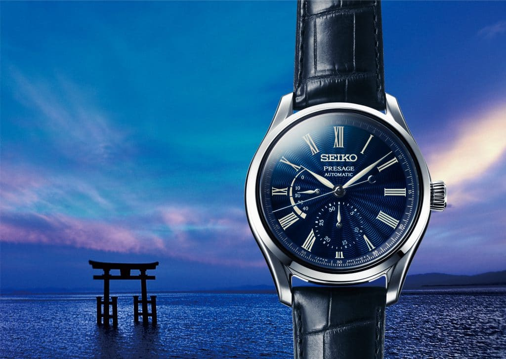 Vaderdag Seiko Presage Shippo Emaille wijzerplaat horloge